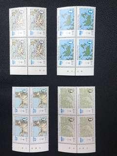 香港地圖四方連