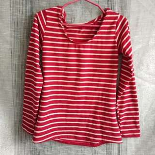 ONHAND RED AND BEIGE LONGSLEEVES