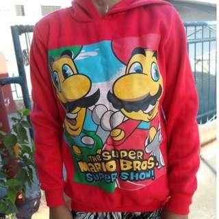 Red Mario Brothers Hoodie