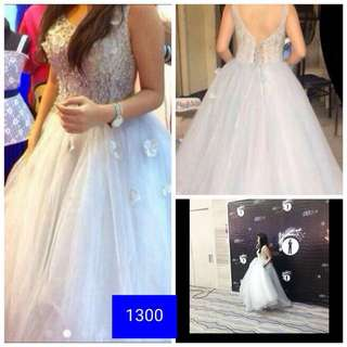 Silver Ball Gown ( Gown for Rent )