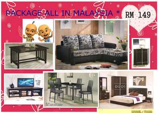 Furniture package ALL IN Installment plan payment per-month