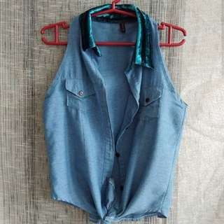 ONHAN DENIM SLEEVLESS