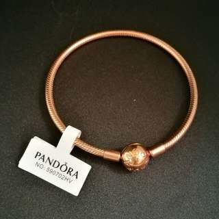 PANDORA Rose MOMENTS Smooth Bracelet (19cm)