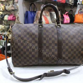 Louis Vuitton Damier Ebene Keepall Bandouliere 45