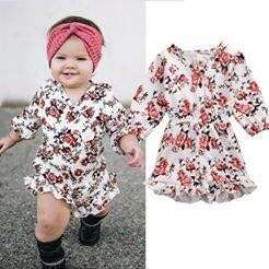 [ Pre-Order] Baby Girl Long Sleeve Floral Dress