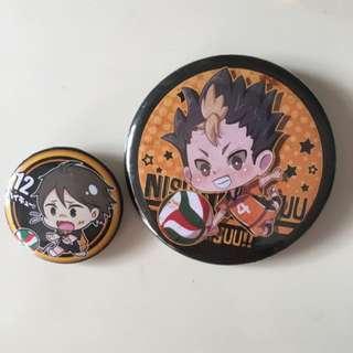 Haikyuu badges