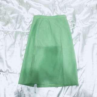 St. Michael from Marks & Spencer Green Slit Skirt