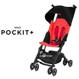 GB POCKIT PLUS GOLD (With Canopy) - CHERRY RED