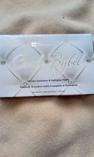 Carli Bybel 14 pc Palette eyeshadows and highlighters