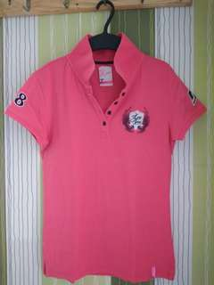 Pre-loved Lee Pipes Pink Polo Shirt