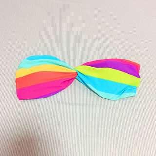 Bayo rainbow bikini top