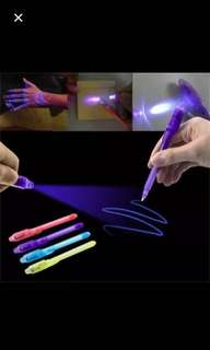 UV Light Pen Invisible Ink Security Marker Pen With Ultra Violet LED