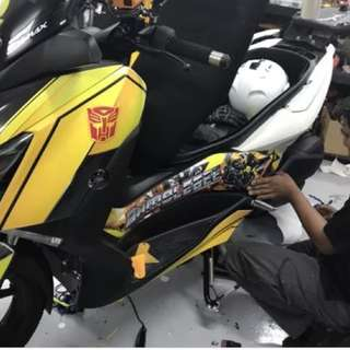 Sticker wrap for Motorbikes