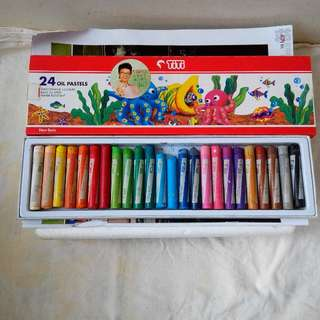 TiTi 24 colors oil pastels