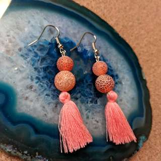 Gemstone Earrings Weathering Agate