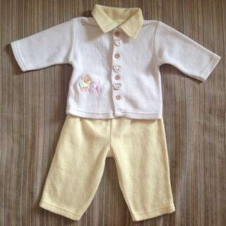 Warm top & bottom set (Autumn/Winter wear) : 6-12mths