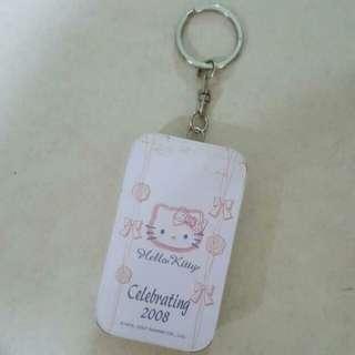 Cute Hello Kitty Tin Box With Keychain