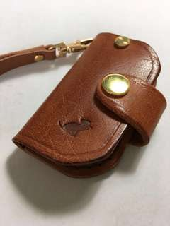 Leather car remote pouch