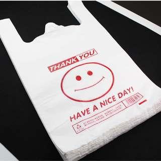 100Pc Plastic Shopping Bag 32x50