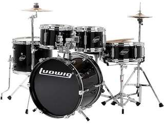 Ludwig Junior Drum Set LJR106 Black colour