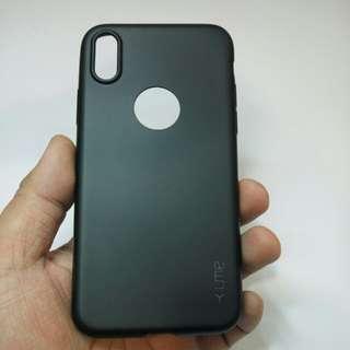 iphone X softcase UME warna hitam