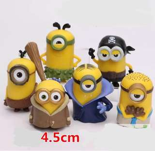 Minions party supplies - toys / figurines / DIY Cake Deco/ toppers