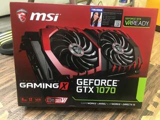 GEFORCE GTX 1070 GAMING X 8G