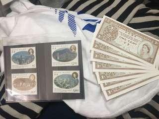 郵票 一份紙幣