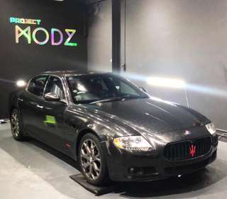 Maserati Glitter Black Full Car Wrap Service