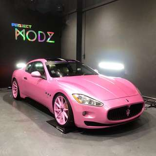 Maserati GranTurismo Pink Glitter Full Car Wrap Wrapping Sticker