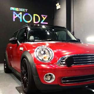 Mini Cooper True Blood Red Full Car Wrap