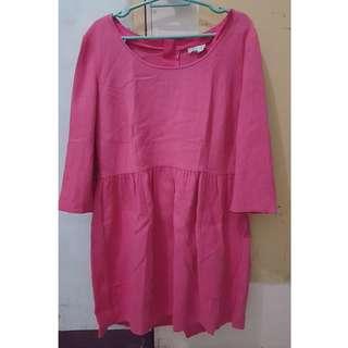 Asos Pink Ribbon Back Zip Dress