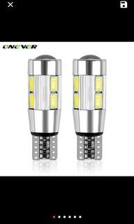 2PCS Car Styling Car Auto LED T10 194 W5W Canbus 10 SMD 5630 LED Light Bulb No Error LED Light Parking T10 LED Car Side Light