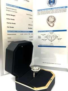 巨鑽戒指 EGL 7.06 卡 💍