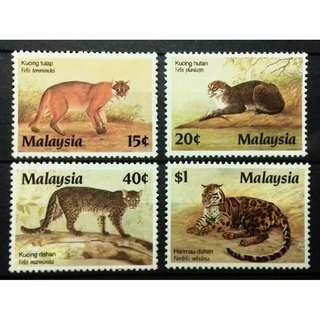 MALAYSIA 1987 PROTECTED ANIMALS SG 383-386 MNH