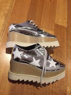 Stella McCartney Elyse Indium Flatform Women's Derby Shoes Sneakers