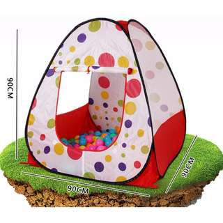 FPBK0027 Baby/ Kids Toy - Portable Cubby House/ Castle/ Palace Play Tent - Colourful Dots (1 pc)