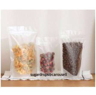 Frosted Matte Standing Ziplock Cookie Bag Pouch Packaging Gift
