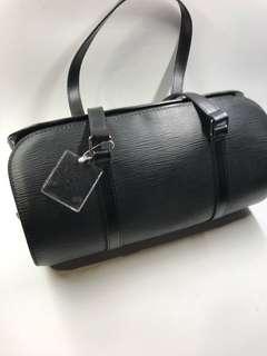 LV 經典 樹紋 真皮手挽袋