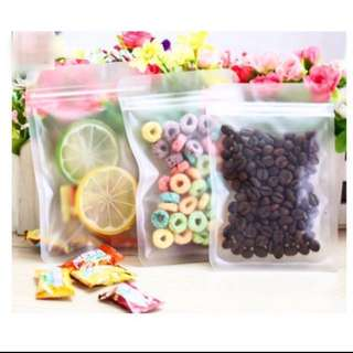 Frosted Flat Ziplock Cookie Bag Pouch Packaging Gift