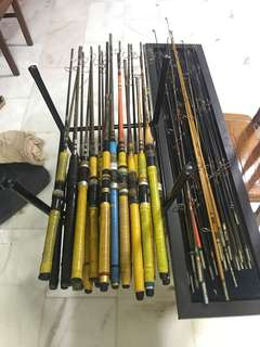 6piece set Sweden old fishing rod adu 70year adu zoom suecia 352  Abu zoom diplomat  752 Abu  suecia  321 Abu zoom adjusting Abu suecia Colour zoom abu svecia oubtt zoom  swedenzoom 752
