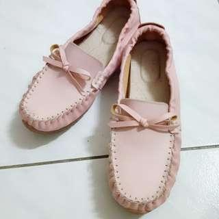 🚚 粉色 包鞋 娃娃鞋 24.5cm