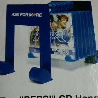 百事藍色音符CD掛架可存12隻門K120元