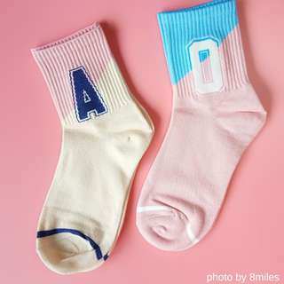 Ulzzang Style Mid-length Socks for Woman & Students - Part #2