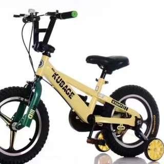"Kid's Bike 14"" Kubage Training Wheels Sports Rims"