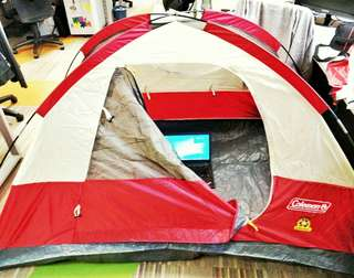COLEMAN 2-person Sundome Tent in Red