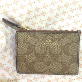 Auth. Coach Mini Skinny Wallet