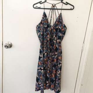 Miss Selfridge floral backless dress
