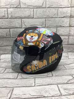 🚚 中山安全帽 現貨 M2R FR1 #12 柴犬 安全帽 彩繪 內藏墨片 可拆式內襯