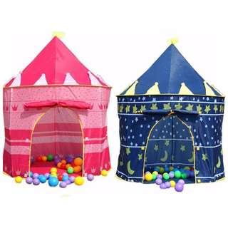 FPBK0008 Baby/ Kids Toy - Portable Cubby House/ Castle/ Palace Play Tent - Pink/ Blue (1 pc)
